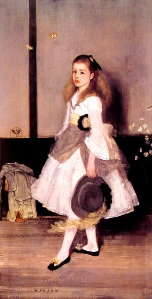 James Abbott McNeill Whistler - Harmony in Grey and Green- Miss Cicely Alexander  1872-73