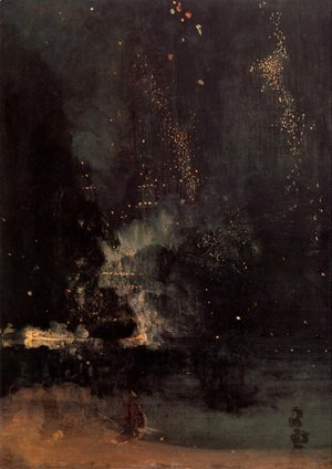 Nocturne in Black and Gold- The Falling Rocket  1875
