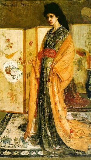 James Abbott McNeill Whistler - Rose and Silver- The Princess from the Land of Porcelain 1863-64