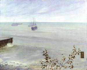 James Abbott McNeill Whistler - Symphony in Grey and Green- The Ocean  1866-72
