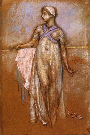 James Abbott McNeill Whistler - The Greek Slave Girl (or Variations in Violet and Rose)