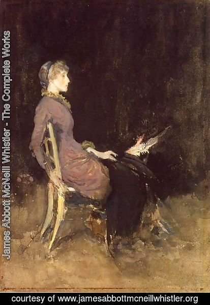 James Abbott McNeill Whistler - Black and Red (or Study in Black and Gold (Madge O'Donoghue))