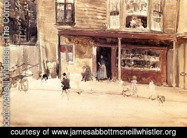 James Abbott McNeill Whistler - The Shop - An Exterior