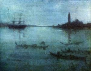 James Abbott McNeill Whistler - Nocturne in Blue and Silver: The Lagoon, Venice