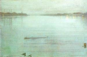 James Abbott McNeill Whistler - Nocturne- Blue and Silver
