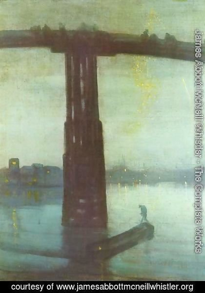 James Abbott McNeill Whistler - Nocturne: Blue and Gold - Old Battersea Bridge