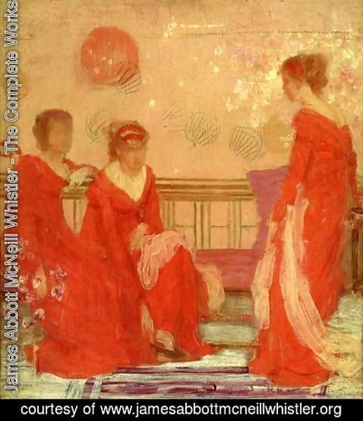 James Abbott McNeill Whistler - Harmony in Flesh Colour and Red