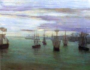 James Abbott McNeill Whistler - Crepuscule in Flesh Colour and Green: Valparaiso