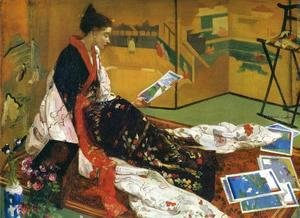 James Abbott McNeill Whistler - Caprice in Purple and Gold: The Golden Screen
