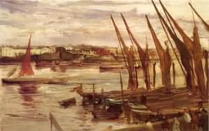 James Abbott McNeill Whistler - Battersea Reach