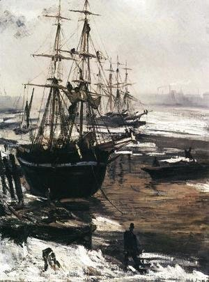 James Abbott McNeill Whistler - The Thames in Ice