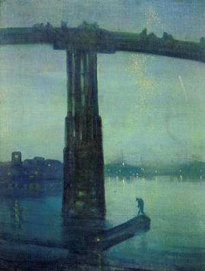 James Abbott McNeill Whistler - Nocturne in blue and green