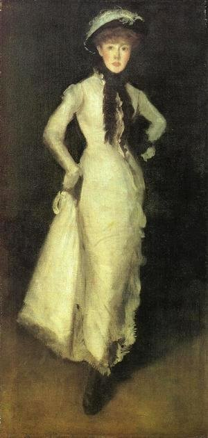 James Abbott McNeill Whistler - Arrangement in White and Black