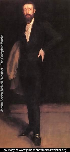 James Abbott McNeill Whistler - Arrangement in Black: Portrait of F.R. Leyland