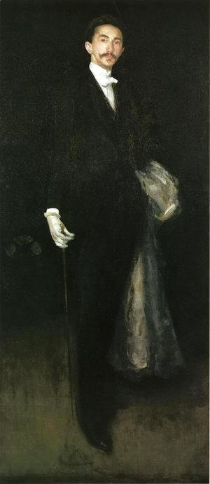James Abbott McNeill Whistler - Arrangement in Black and Gold: Comte Robert de Montesquiou-Fezensac