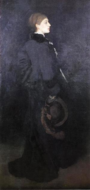 James Abbott McNeill Whistler - Arrangement in Brown and Black: Portrait of Miss Rosa Corder
