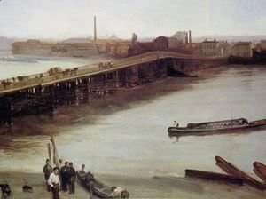 James Abbott McNeill Whistler - Brown and Silver: Old Battersea Bridge