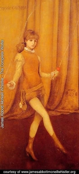 James Abbott McNeill Whistler - Harmony in Yellow and Gold: The Gold Girl Connie Gilchrist