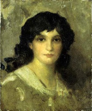 James Abbott McNeill Whistler - Head of a Young Woman