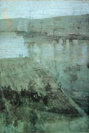 James Abbott McNeill Whistler - Nocturne in Blue and Gold: Valparaiso Bay