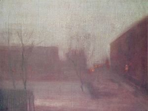 James Abbott McNeill Whistler - Nocturne: Trafalgar Square - Chelsea Snow