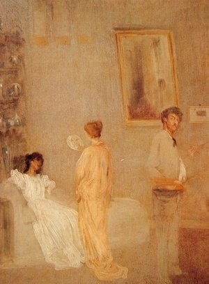 James Abbott McNeill Whistler - Whistler in his Studio
