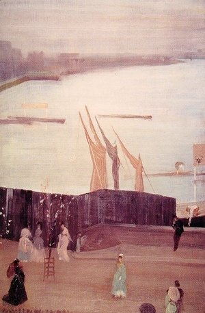 James Abbott McNeill Whistler - Variations in Pink And Grey: Chelsea
