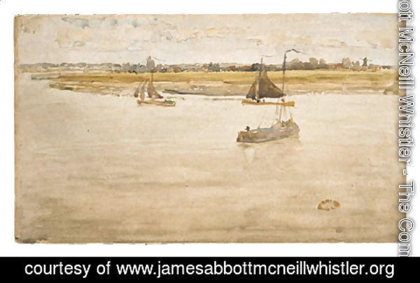 James Abbott McNeill Whistler - Gold and Brown: Dordrecht