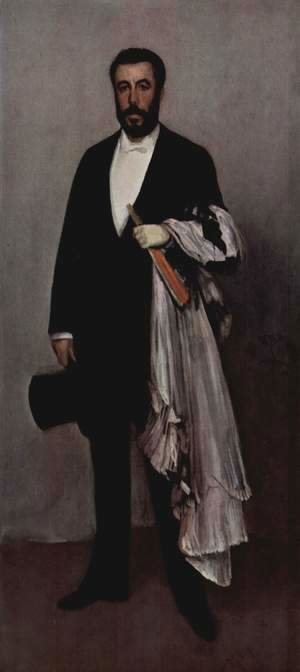 James Abbott McNeill Whistler - Arrangement in Flesh Colour and Black: Portrait of Theodore Duret