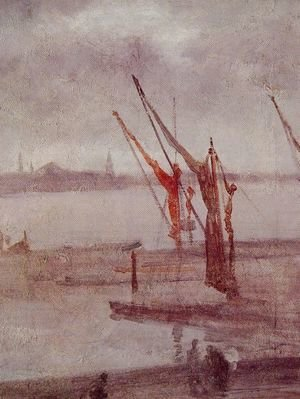 James Abbott McNeill Whistler - Chelsea Wharf: Grey and Silver
