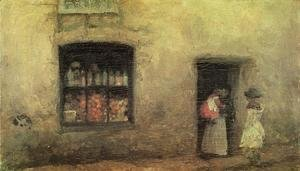 James Abbott McNeill Whistler - An Orange note : the Sweet-shop