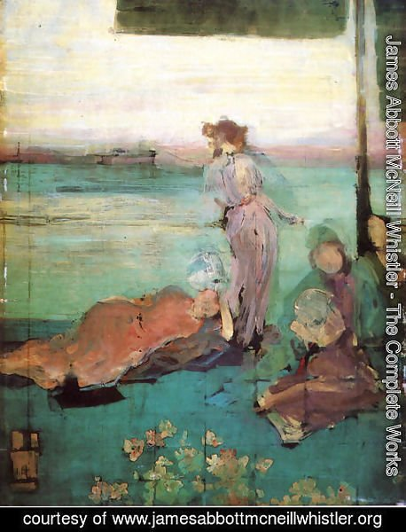 "James Abbott McNeill Whistler - Sketch for ""The Balcony"""