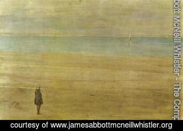 James Abbott McNeill Whistler - Harmony in Blue and Silver: Trouville