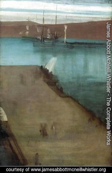 "James Abbott McNeill Whistler - Sketch for ""Nocturne in Blue and Gold: Valparaiso Bay"""