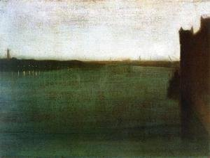 James Abbott McNeill Whistler - Nocturne: Grey and Gold - Westminster Bridge