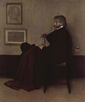 James Abbott McNeill Whistler - Arrangement in Grey and Black, No.2: Portrait of Thomas Carlyle
