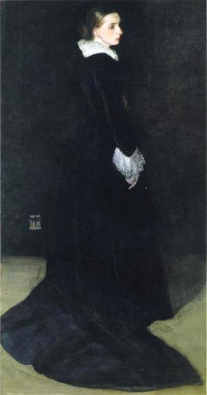 James Abbott McNeill Whistler - Arrangement in Black, No. 2: Portrait of Mrs. Louis Huth