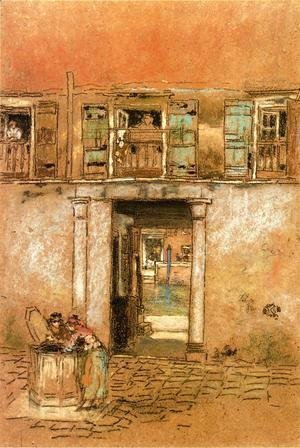 James Abbott McNeill Whistler - Courtyard and Canal