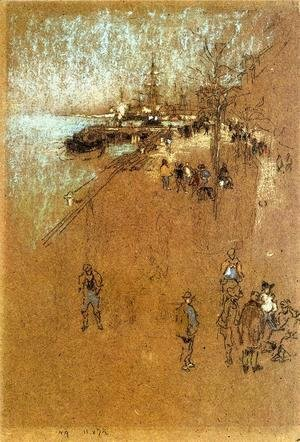 James Abbott McNeill Whistler - The Zattere; Harmony in Blue and Brown