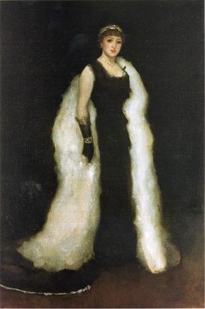 James Abbott McNeill Whistler - Arrangement in Black, No.5: Lady Meux