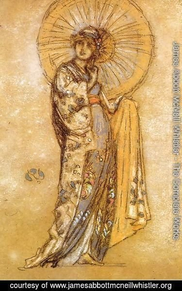 James Abbott McNeill Whistler - The Japanese Dress