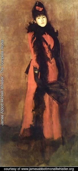 James Abbott McNeill Whistler - Red and Black: the Fan