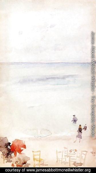 James Abbott McNeill Whistler - Note in Opal - The Sands, Dieppe