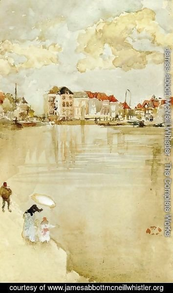 James Abbott McNeill Whistler - Note in Gold and Silver - Dordrecht