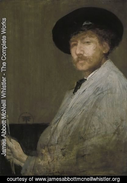 James Abbott McNeill Whistler - Arrangement in Grey: Portrait of the Painter