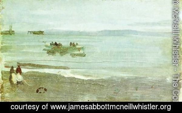 James Abbott McNeill Whistler - Grey and Silver: Mist - Lifeboat