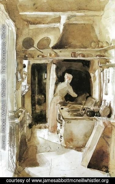 James Abbott McNeill Whistler - The Kitchen 2