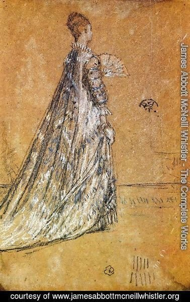 James Abbott McNeill Whistler - The Blue Dress