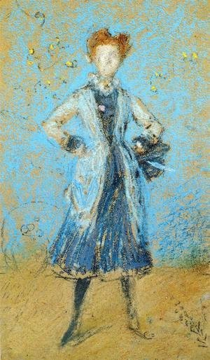 James Abbott McNeill Whistler - The Blue Girl