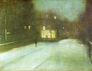 James Abbott McNeill Whistler - Nocturne: Grey and Gold - Chelsea Snow